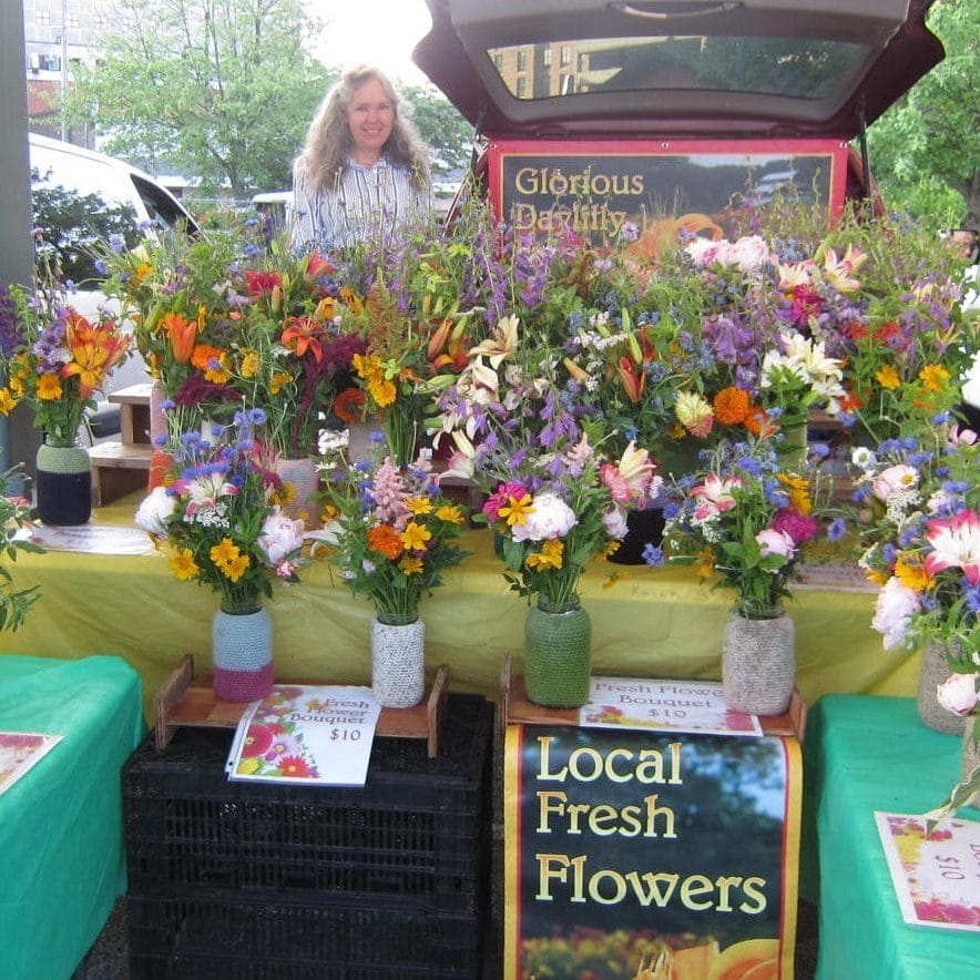 local fresh flower booth
